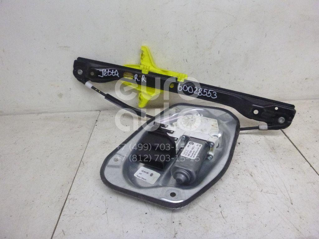 Стеклоподъемник электр. задний правый для VW Jetta 2006-2011 - Фото №1