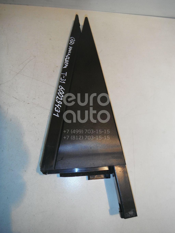 Накладка двери задней правой для Nissan X-Trail (T31) 2007-2014 - Фото №1