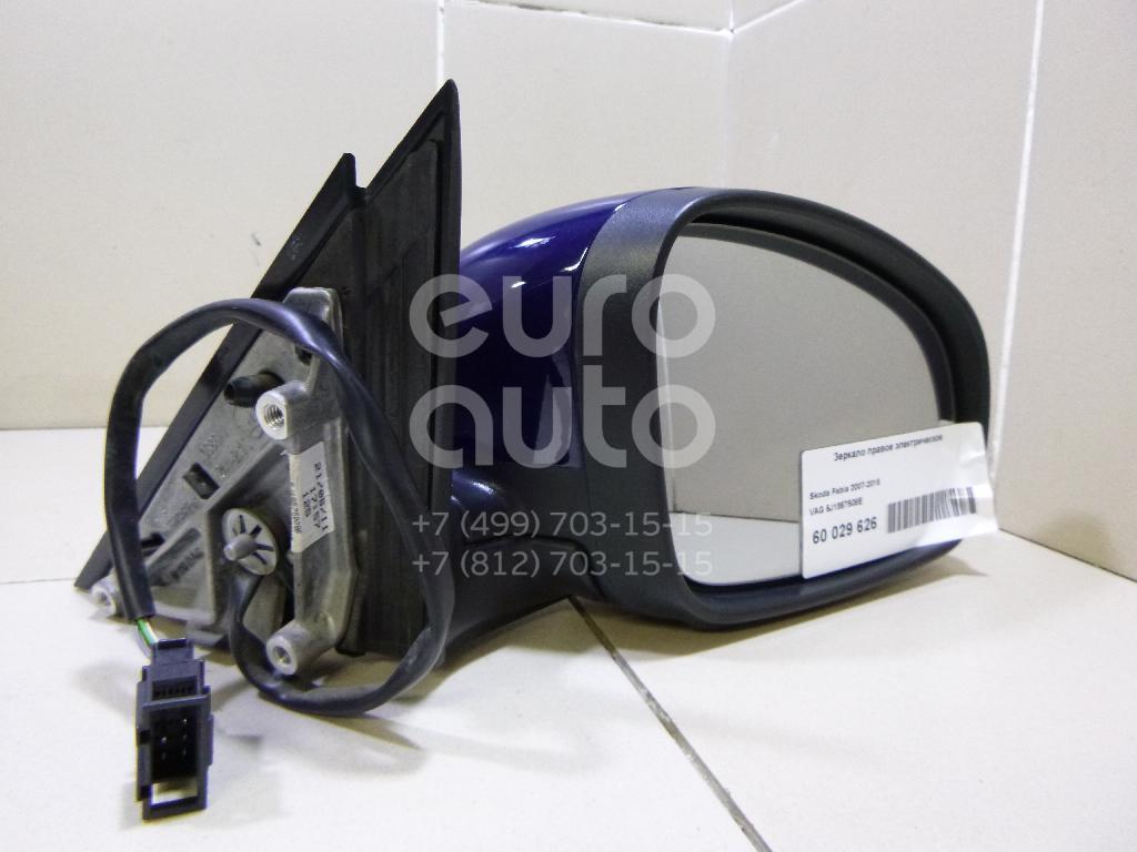 Зеркало правое электрическое для Skoda Fabia 2007-2015 - Фото №1