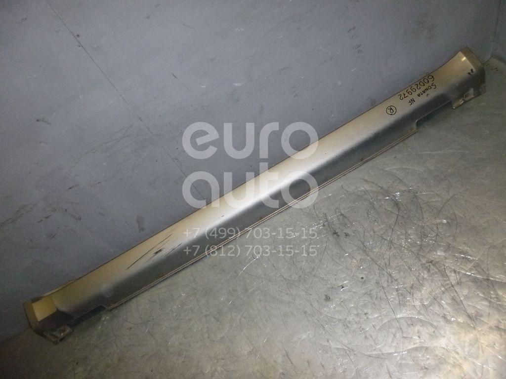Накладка на порог (наружная) для Hyundai Sonata V (NF) 2005-2010 - Фото №1