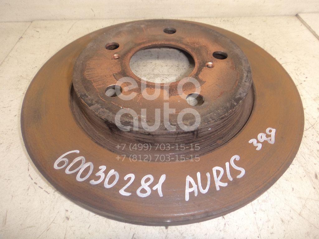 Диск тормозной задний для Toyota Auris E18 2012>;Auris (E15) 2006-2012;Corolla E15 2006-2013;Corolla E18 2013> - Фото №1
