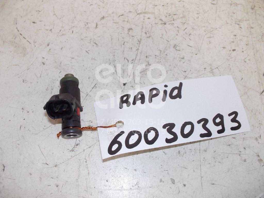 Форсунка инжекторная электрическая для Skoda,VW,Seat Rapid 2013>;Polo 2001-2009;Ibiza V 2008>;Fabia 2007-2015;Roomster 2006-2015;Polo (HB) 2009> - Фото №1