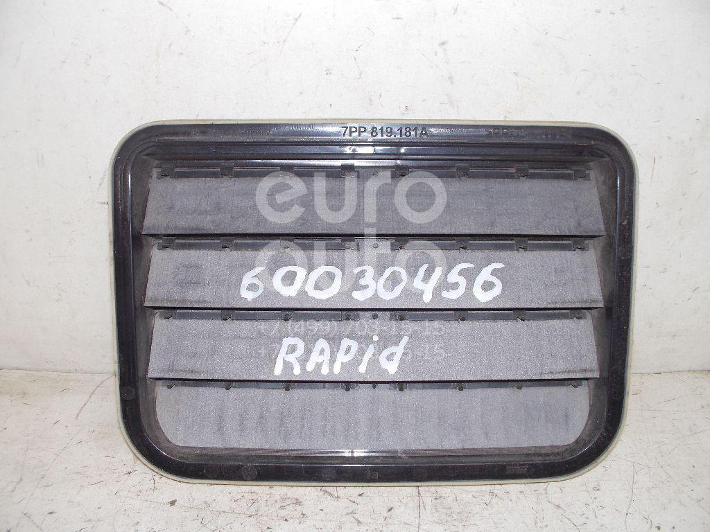 Решетка вентиляционная для Skoda,VW,Seat Rapid 2013>;Touareg 2010>;Octavia (A7) 2013>;Toledo 2013> - Фото №1