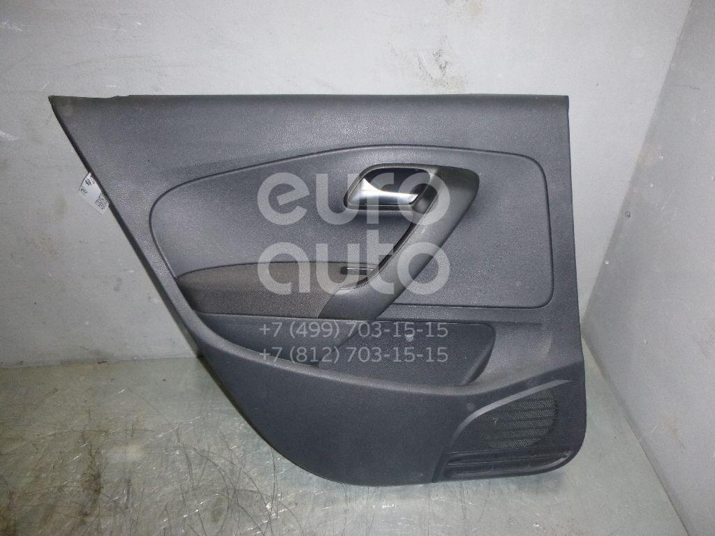 Обшивка двери задней левой для VW Polo (HB) 2009> - Фото №1
