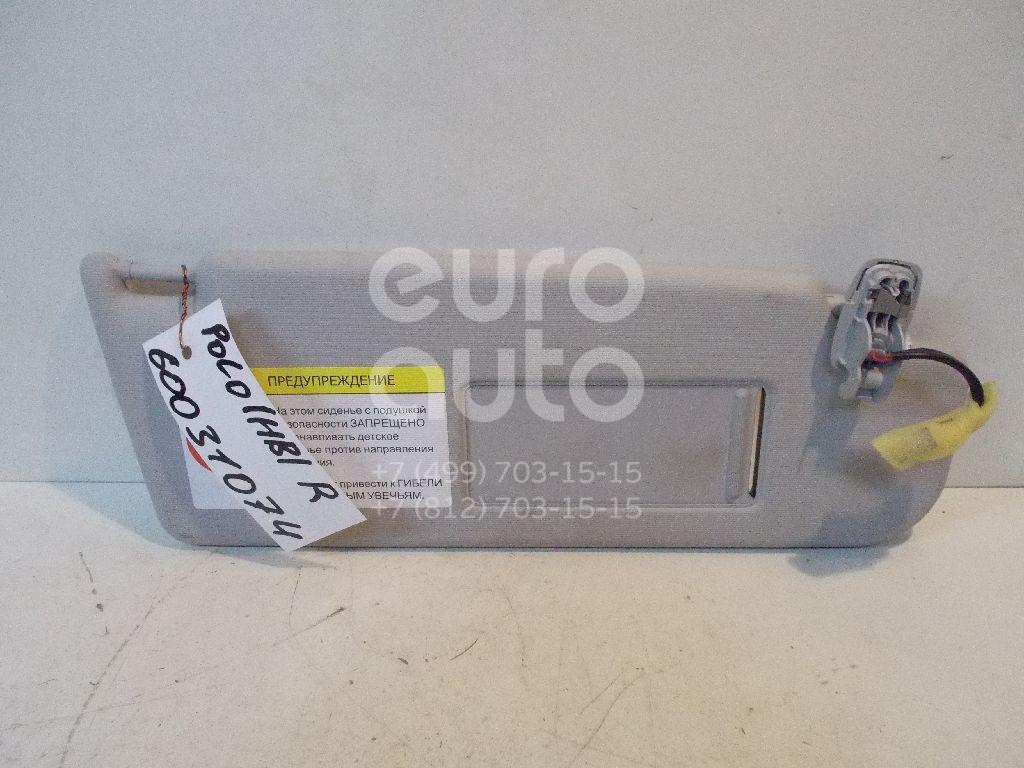 Козырек солнцезащитный (внутри) для VW Polo (HB) 2009> - Фото №1