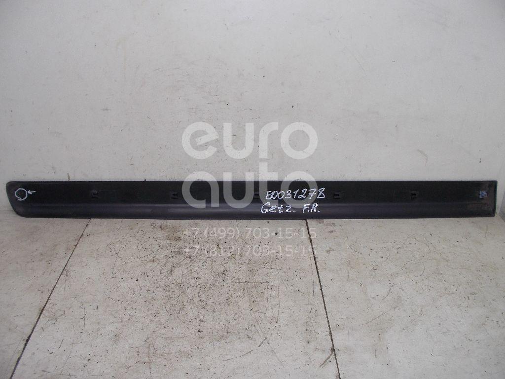 Молдинг передней правой двери для Hyundai Getz 2002-2010 - Фото №1