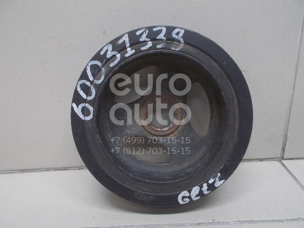 Шкив коленвала для Hyundai,Kia Getz 2002-2010;Elantra 2000-2005;Matrix 2001-2010;Coupe (GK) 2002-2009;RIO 2005-2011;Elantra 2006-2011;Accent II (+ТАГАЗ) 2000-2012;Verna/Accent III 2006-2010 - Фото №1