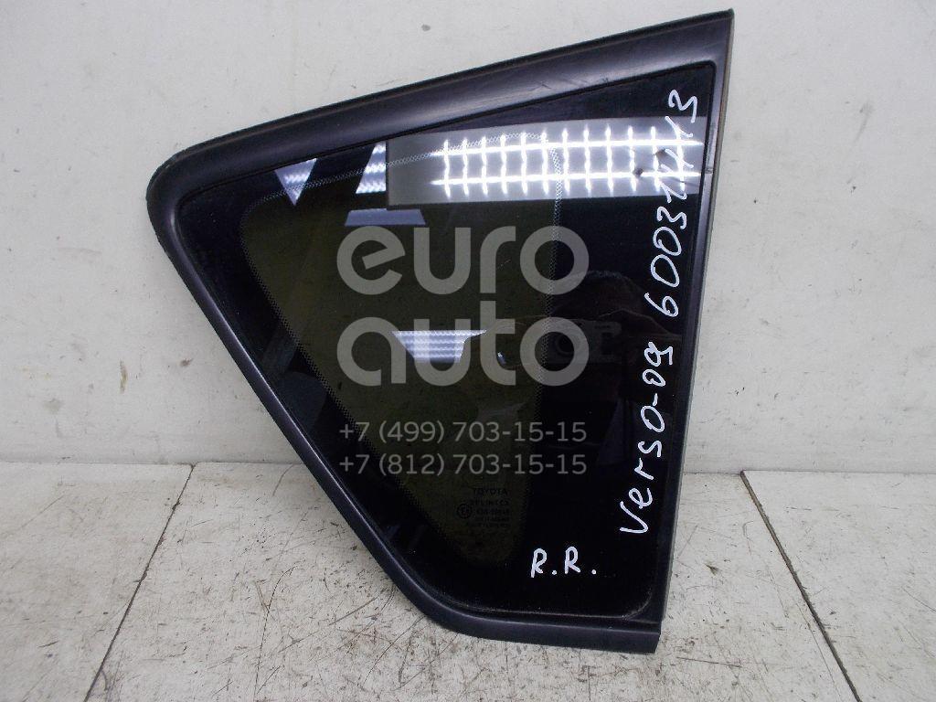 Стекло кузовное глухое правое для Toyota CorollaVerso 2004-2009 - Фото №1