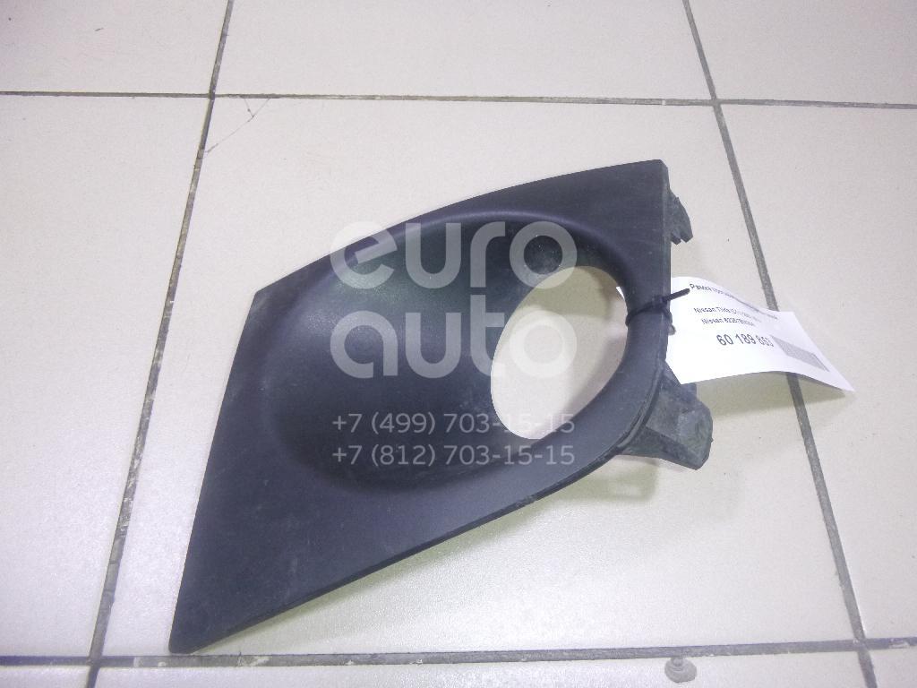 Купить Рамка противотуманной фары левой Nissan Tiida (C11) 2007-2014; (62257EM30B)