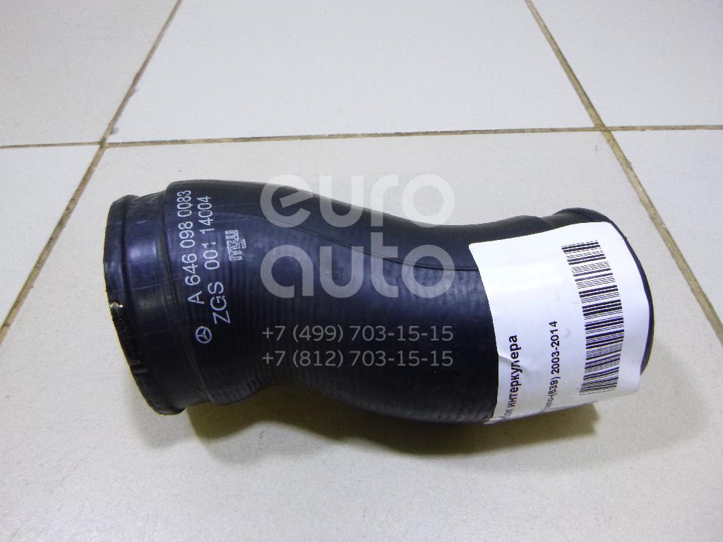 Купить Патрубок интеркулера Mercedes Benz Vito/Viano-(639) 2003-2014; (6460980083)