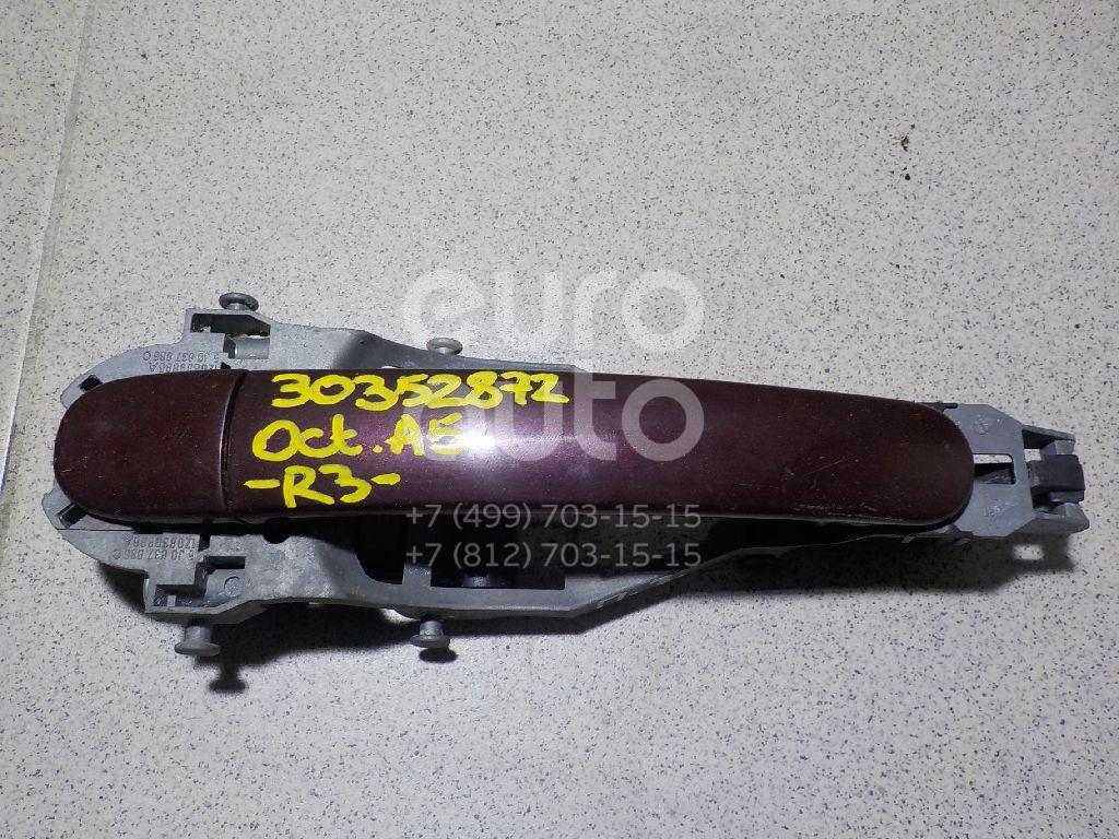 Ручка двери задней наружная правая для Skoda Octavia (A5 1Z-) 2004-2013 - Фото №1
