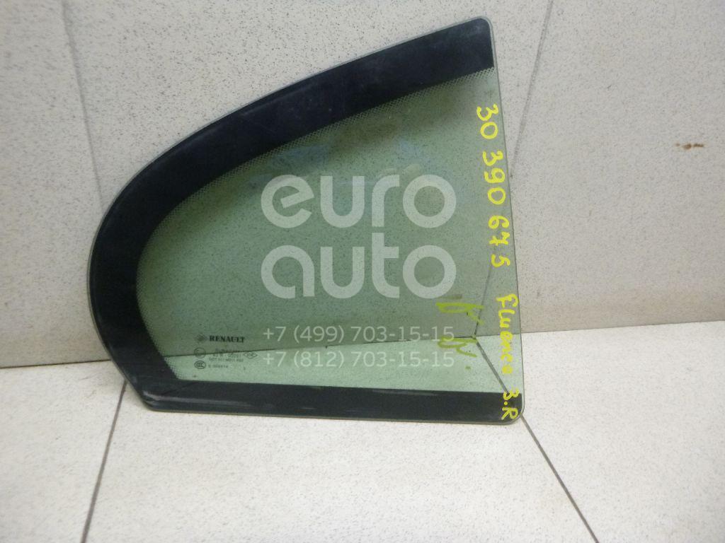 Стекло двери задней правой (форточка) Renault Fluence 2010-; (822620007R)  - купить со скидкой
