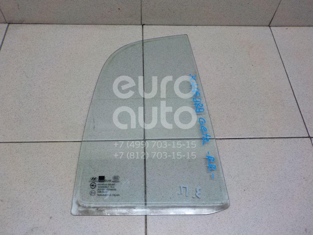 Купить Стекло двери задней правой (форточка) Hyundai Getz 2002-2010; (834611C010)