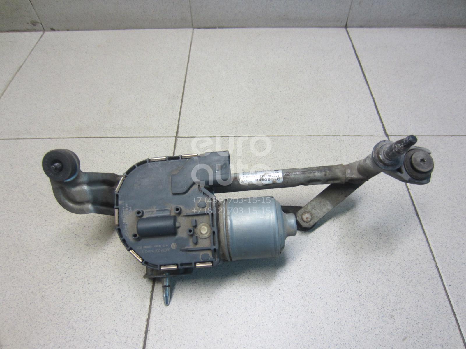 Купить Моторчик стеклоочистителя передний VW Golf Plus 2005-2014; (5M0955024E)