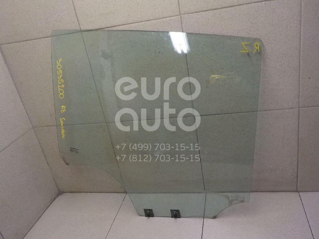 Купить Стекло двери задней правой Renault Sandero 2009-2014; (8200733046)