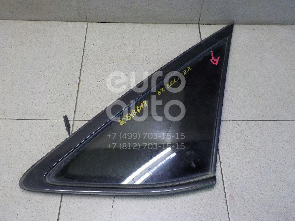 Купить Стекло кузовное глухое правое Lexus RX 300/330/350/400h 2003-2009; (627100E010)