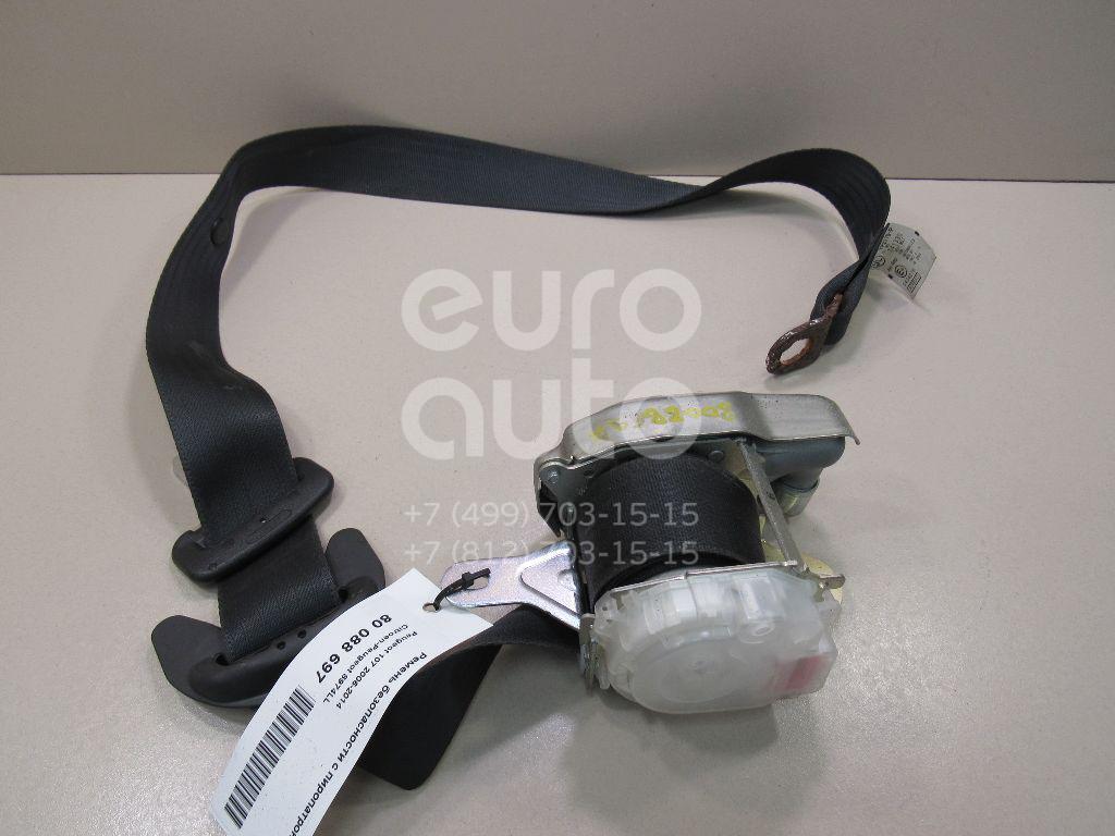 Купить Ремень безопасности с пиропатроном Peugeot 107 2006-2014; (8974LL)