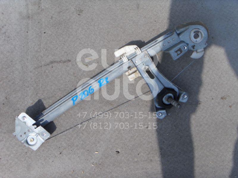 Стеклоподъемник механ. задний правый для Peugeot 206 1998-2012 - Фото №1