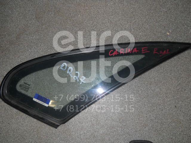 Стекло кузовное глухое правое для Toyota Carina E 1992-1997 - Фото №1