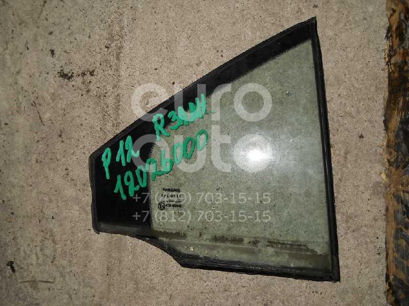 Стекло двери задней правой (форточка) для Nissan Primera P12E 2002-2007 - Фото №1