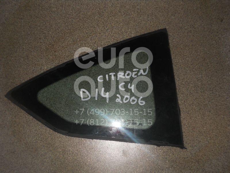Стекло кузовное глухое правое для Citroen C4 2005-2011 - Фото №1