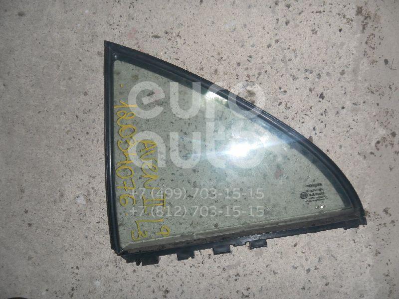 Стекло двери задней левой (форточка) для Toyota Avensis II 2003-2008 - Фото №1