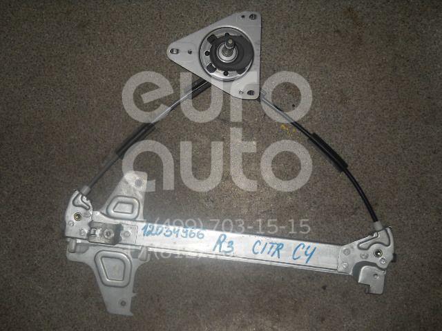 Стеклоподъемник механ. задний правый для Citroen C4 2005-2011 - Фото №1
