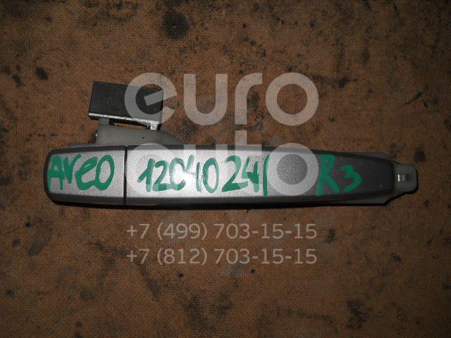 Ручка двери задней наружная правая для Chevrolet Aveo (T250) 2005-2011 - Фото №1