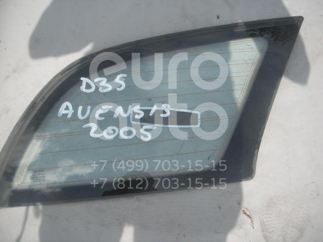 Стекло кузовное глухое правое для Toyota Avensis II 2003-2008 - Фото №1