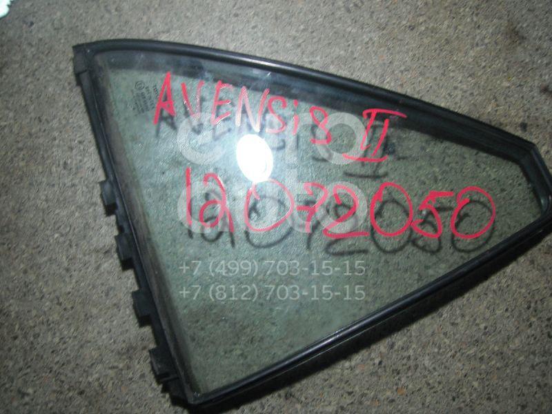 Стекло двери задней правой (форточка) для Toyota Avensis II 2003-2008 - Фото №1