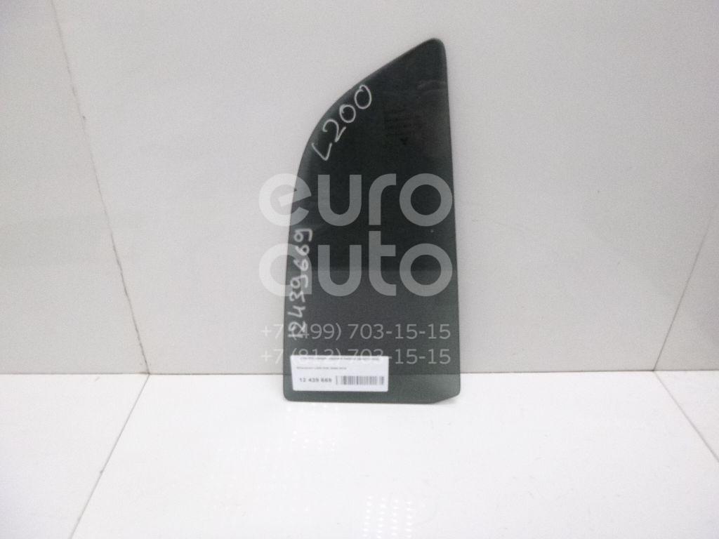 Купить Стекло двери задней левой (форточка) Mitsubishi L200 (KB) 2006-2016; (MN136793)