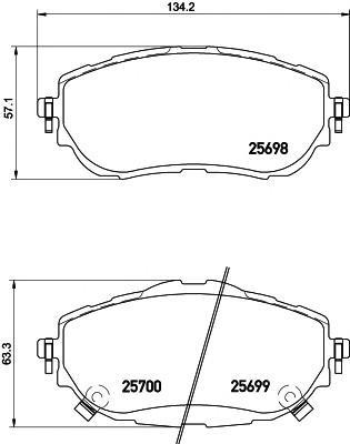 Колодки тормозные передние к-кт для Toyota Corolla E18 2013> - Фото №1