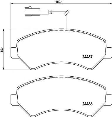 Колодки тормозные передние к-кт для Fiat Ducato 250 (НЕ ЕЛАБУГА!!!) 2006> - Фото №1