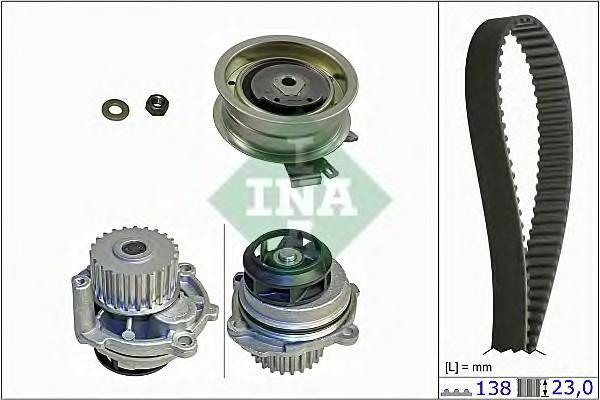 Водяной насос+к-кт ремня ГРМ для VW Golf VI 2009-2012 - Фото №1