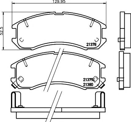 Колодки тормозные передние к-кт для Mazda 626 (GD) 1987-1992 - Фото №1