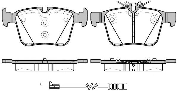 Колодки тормозные задние дисковые к-кт для Mercedes Benz W205 2014> - Фото №1