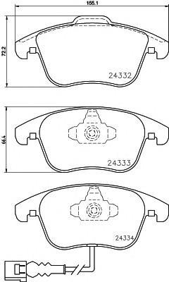 Колодки тормозные передние к-кт для Audi Q3 2012> - Фото №1