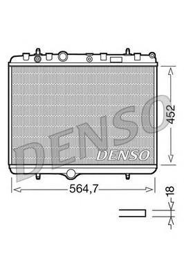 Радиатор основной для Peugeot 408 2012> - Фото №1