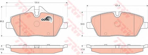 Колодки тормозные передние к-кт для Mini Clubman R55 2006> - Фото №1