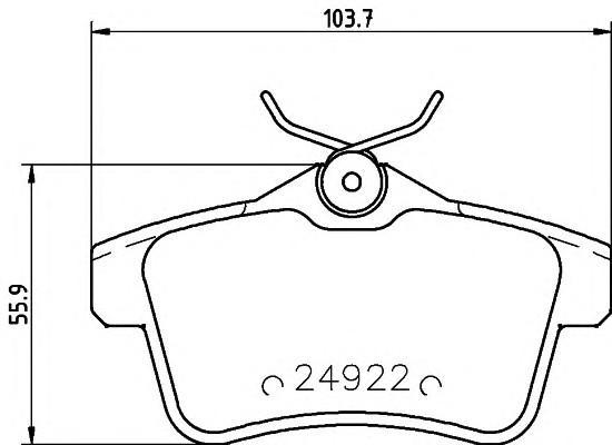 Колодки тормозные задние дисковые к-кт для Peugeot 5008 2012> - Фото №1