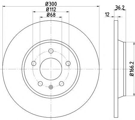 Диск тормозной задний для Audi A6 [C7,4G] 2011> - Фото №1