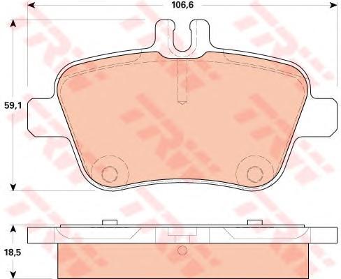 Колодки тормозные задние дисковые к-кт для Mercedes Benz A180/200/250 W176 2012> - Фото №1