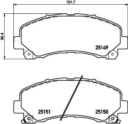 Колодки тормозные передние к-кт для Chevrolet Trail Blazer 2013> - Фото №1