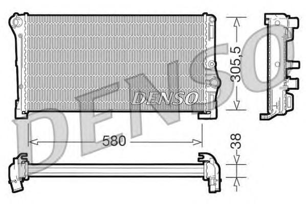 Радиатор основной для Fiat Punto /Grande Punto 199 2005> - Фото №1
