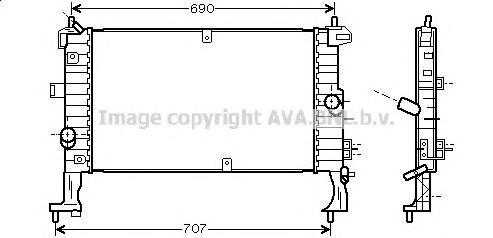 Радиатор основной для Opel Meriva 2003-2010 - Фото №1