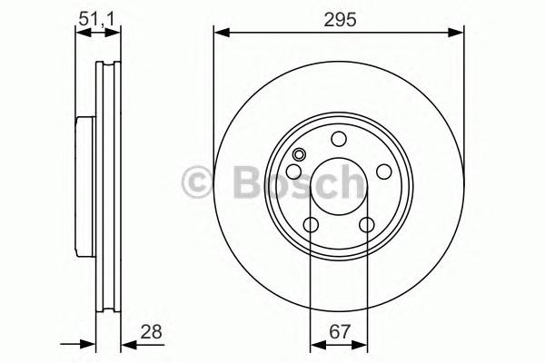 Диск тормозной передний вентилируемый для Mercedes Benz A180/200/250 W176 2012> - Фото №1