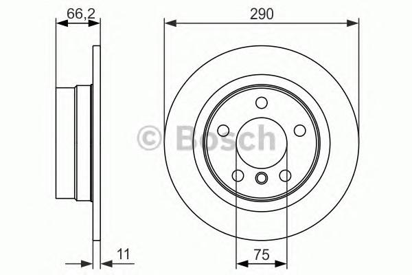 Диск тормозной задний для BMW 1-серия F20/F21 2011> - Фото №1