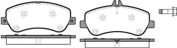 Колодки тормозные передние к-кт для Mercedes Benz GLK-Class X204 2008> - Фото №1