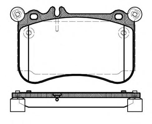 Колодки тормозные передние к-кт для Mercedes Benz R172 SLK 2010> - Фото №1