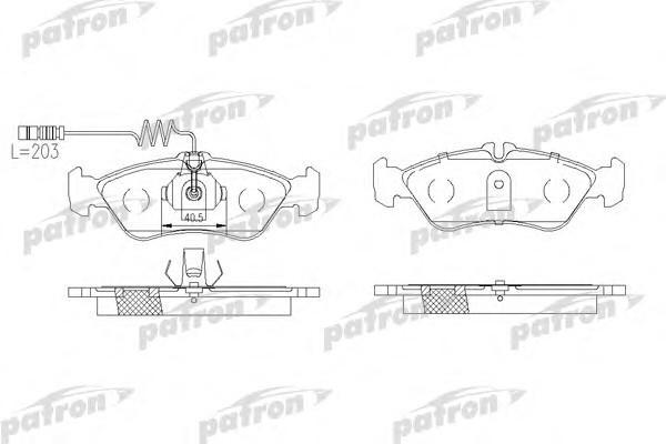 Колодки тормозные задние дисковые к-кт для VW LT II 1996> - Фото №1